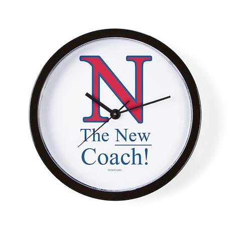 N the New Coach Wall Clock