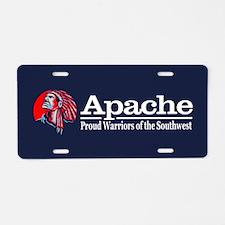 Apache Aluminum License Plate