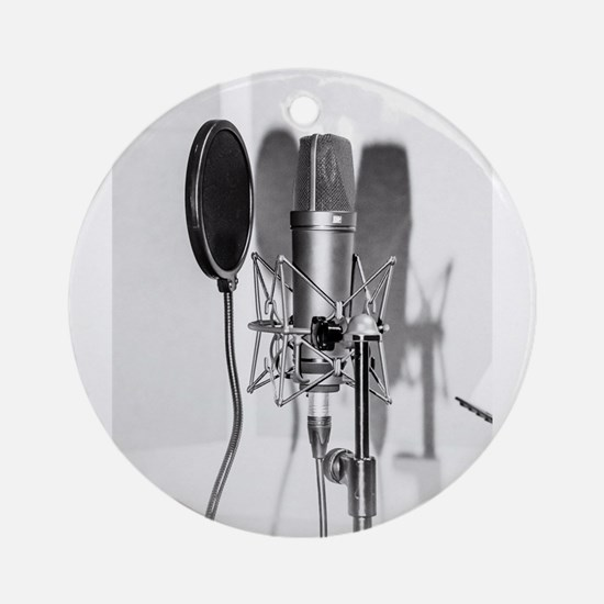 Microphone recording equipment for Round Ornament