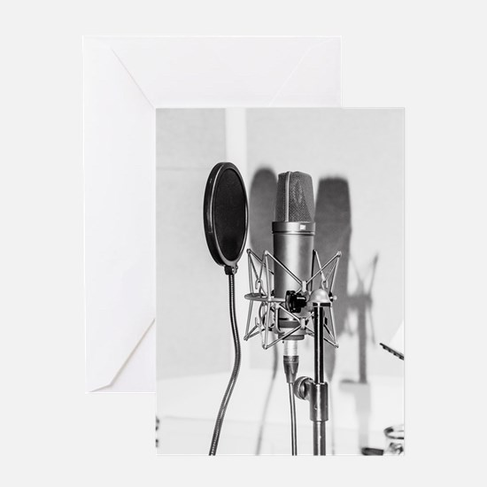 Microphone recording equipment for Greeting Cards