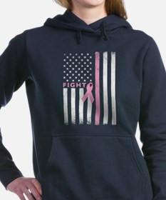 Ribbon Flag Fight Women's Hooded Sweatshirt