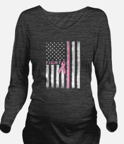 Ribbon Flag Fight Long Sleeve Maternity T-Shirt