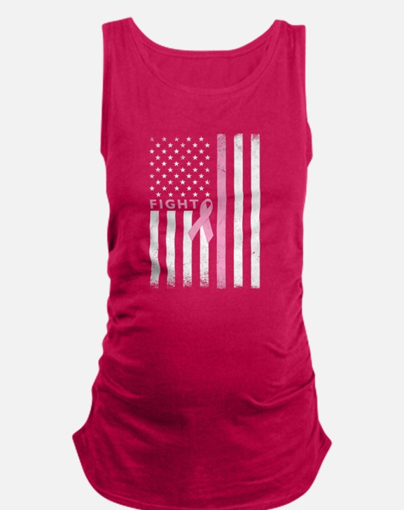 Ribbon Flag Fight Maternity Tank Top