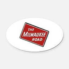 Cute Milwaukee Oval Car Magnet