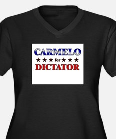 CARMELO for dictator Women's Plus Size V-Neck Dark