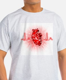 Heart and ECG - T-Shirt