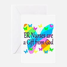ER NURSE FAITH Greeting Card