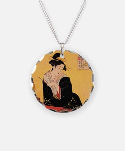 Immortal Poets by Chobunsei Eishi Necklace
