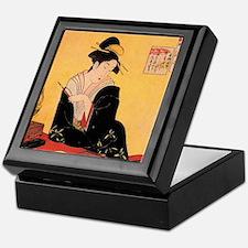 Immortal Poets by Chobunsei Eishi Keepsake Box