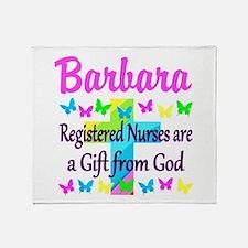 RN NURSE FAITH Throw Blanket