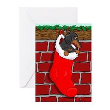 BT Dachshund Stocking Greeting Cards (Pk of 20)