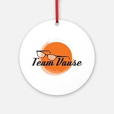 Team Vause Orange Round Ornament