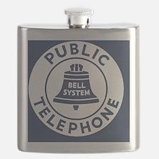 Bell Telephone Background- Logo Flask