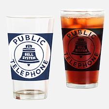 Bell Telephone Background- Logo Drinking Glass