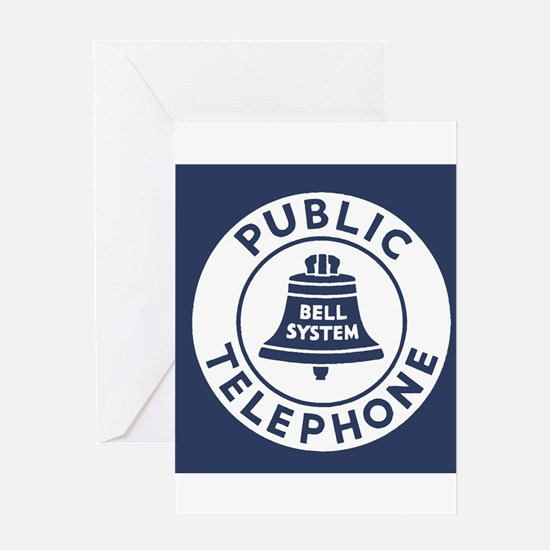Bell Telephone Background- Logo Greeting Cards