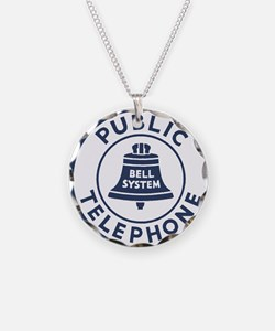 Bell Telephone Background- L Necklace
