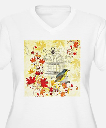Autumn birdcage Plus Size T-Shirt