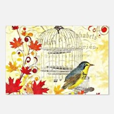 Autumn birdcage Postcards (Package of 8)
