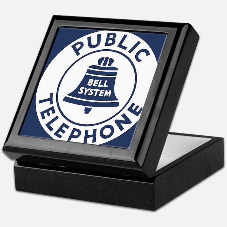 Bell Telephone Background- Logo Keepsake Box