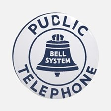 Bell Telephone Background- Logo Round Ornament