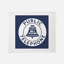 Bell Telephone Background- Logo Throw Blanket