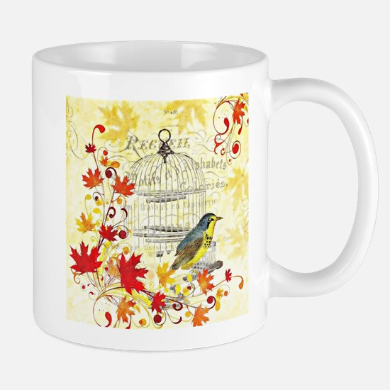 Autumn birdcage Mugs
