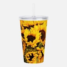 sunflowers at Almaden Acrylic Double-wall Tumbler