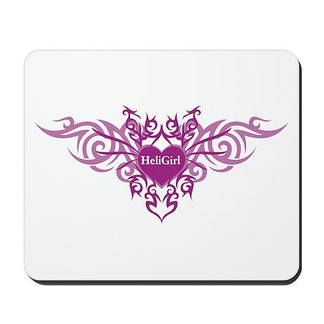 HeliGirl Tribal Heart P Mousepad