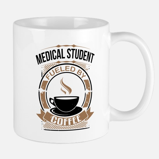 Medical Student Fueled By Coffee Mugs