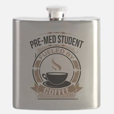Pre-Med Student Fueled By Coffee Flask