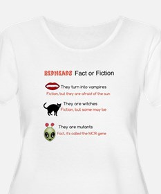 Redheads fact or fiction Plus Size T-Shirt