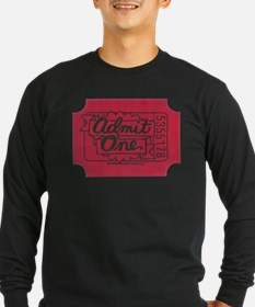 admit_one_red_black Long Sleeve T-Shirt