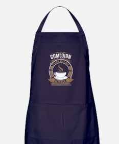 Comedian Fueled By Coffee Apron (dark)
