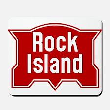 Rock Island Railway logo Mousepad