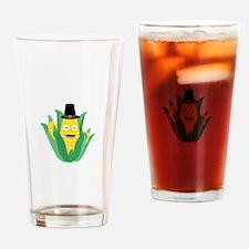 Thanksgiving Corncob Drinking Glass