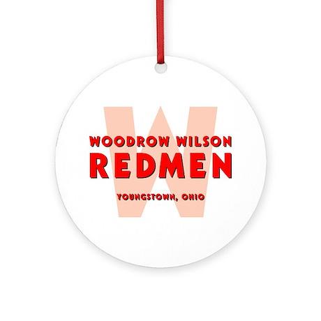 Wilson Redmen Round Ornament