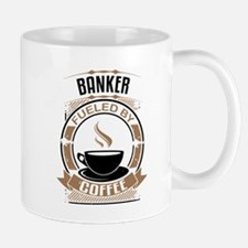 Banker Fueled By Coffee Mugs