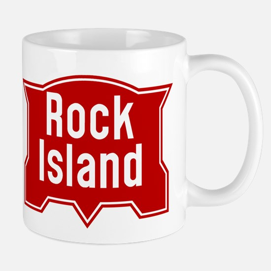Rock Island Railway logo Mugs