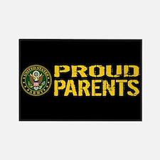 U.S. Army: Proud Parents (Black & Rectangle Magnet
