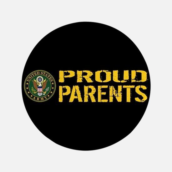 U.S. Army: Proud Parents (Black & Gold) Button