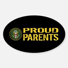 U.S. Army: Proud Parents (Black & G Decal
