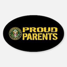 U.S. Army: Proud Parents (Black & G Sticker (Oval)