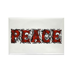 Peace Word Rectangle Magnet (10 pack)