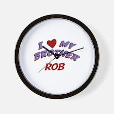 I Love My Brother Rob Wall Clock