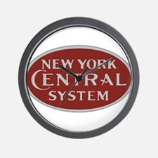 New York Central Railroad Logo-maroon Wall Clock