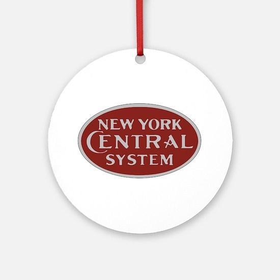 New York Central Railroad Logo-maro Round Ornament