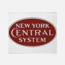 New York Central Railroad Logo-maroo Throw Blanket
