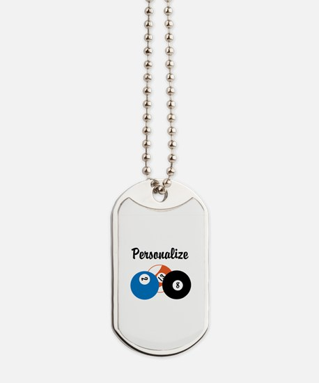 Personalize Pool Biliards Dog Tags