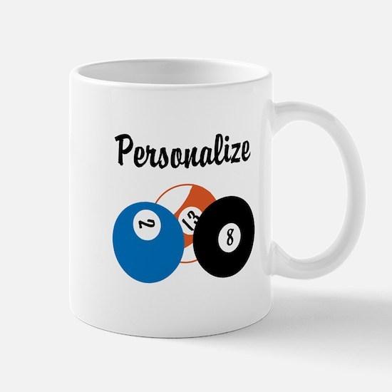 Personalize Pool Biliards Mug