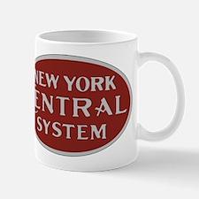 New York Central Railroad Logo-maroon Mugs
